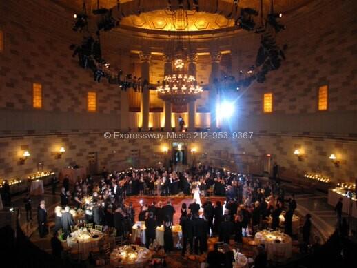 Gotham Hall wedding view from Balcony