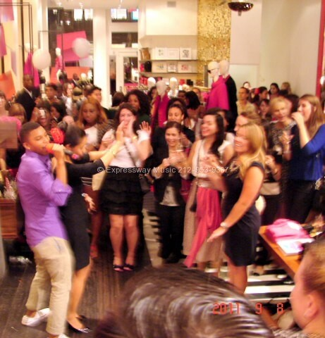 Fashion night out Karaoke at Kate Spade