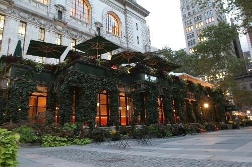 Front of Bryant Park Grill