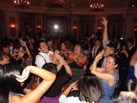 Wedding Guests having fun on Dance Floor at Pleasantdale Chateau