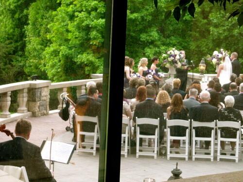 Tappan Hill wedding ceremony