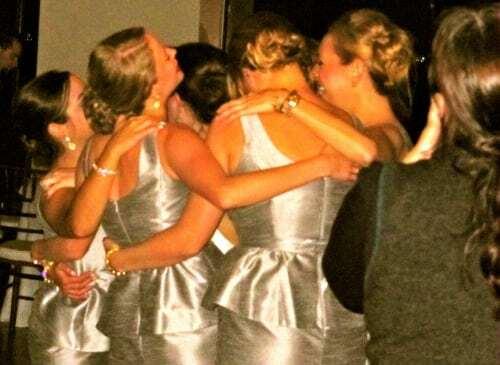 Bridesmaids having fun!