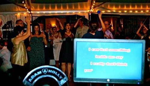 karaoke at New Leaf Wedding