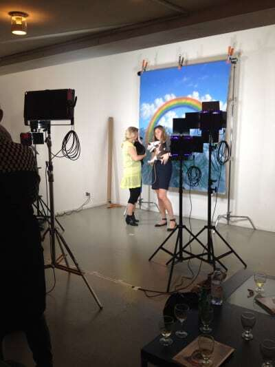 photo booth at Art Gallery gala nyc with DJ Dan