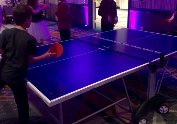 ping pong player at mitzvah