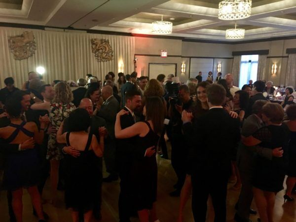 full dance floor at flushing ny wedding