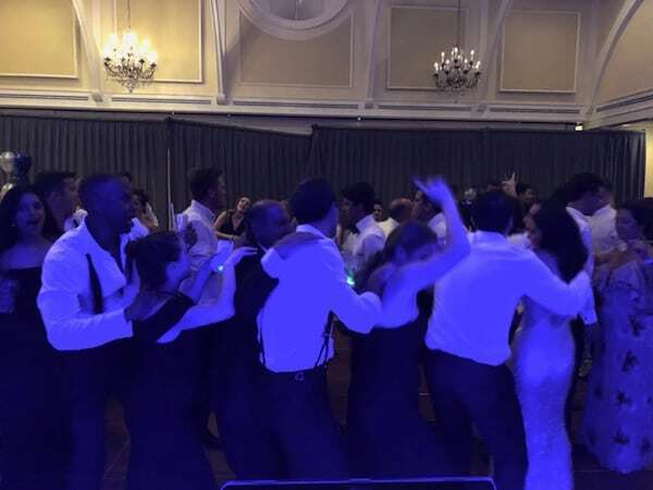 Bridal Party Train on Dance Floor