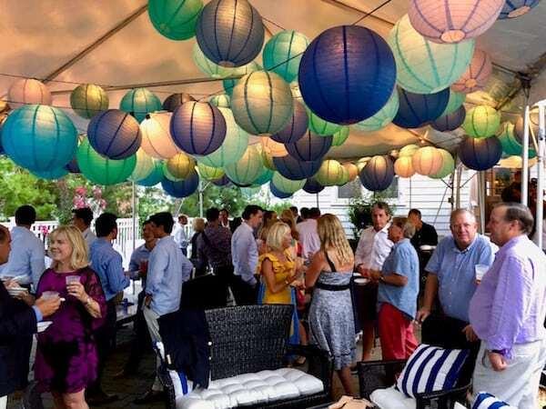 Guests under wedding Tent