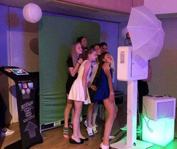 Bar Mitzvah kids enjoying Gif photo booth