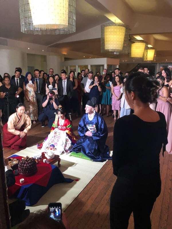 Korean tea ceremony at battery gardens