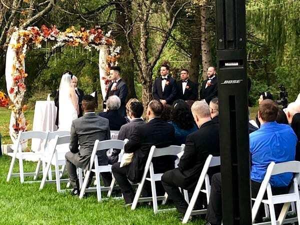 wedding ceremony dj view