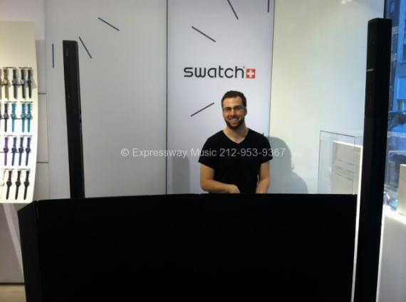 in store dj nyc (Swatch 5th Ave)
