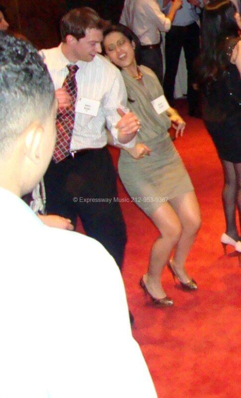 Employees having fun on dance floor