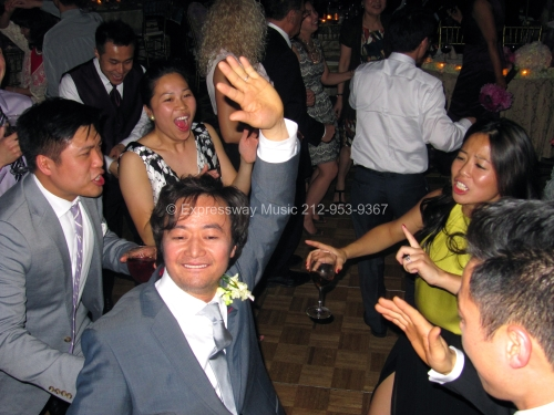 Groom having fun on the dance floor