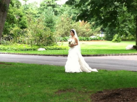 Bride Processional at Pleasantdale Chateau Wedding
