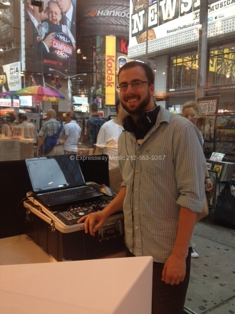 Expressway Music DJ in store in times square