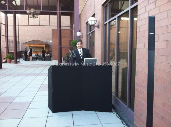 DJ Dave Swirsky Set up at Wedding Ceremony