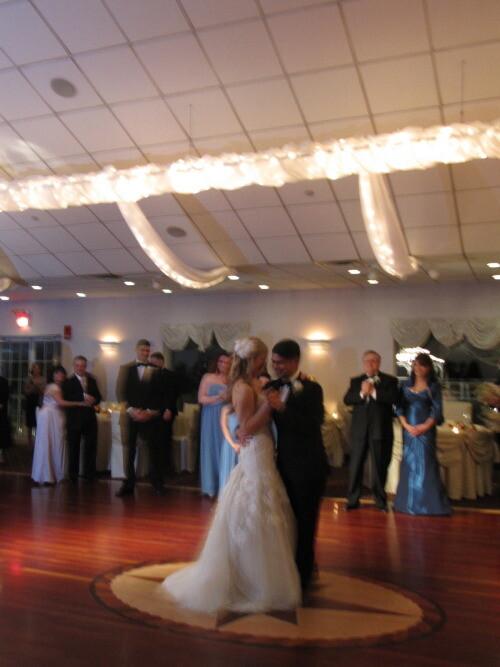 Bride and Groom at Flowerfield