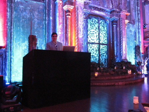 DJ Dave Swirsky set up on Angel Orensanz Stage