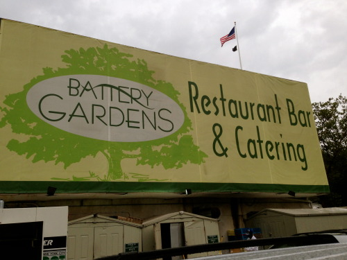 Battery Gardens Sign NYC