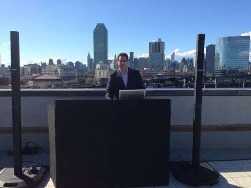 CityView DJ Dave Swirsky for rooftop wedding