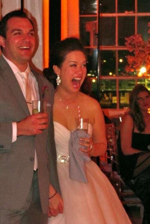 Happy Bride and Groom Studio 450 wedding