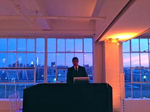 DJ Dave Swirsky at Wedding Studio 450 NYC