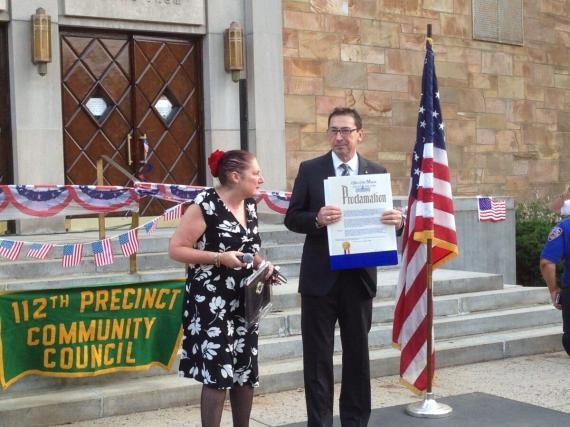 Heidi Chain and Fire Commissioner Nigro | Forest Hills