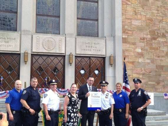 Fire commissioner Nigro and members of 112th