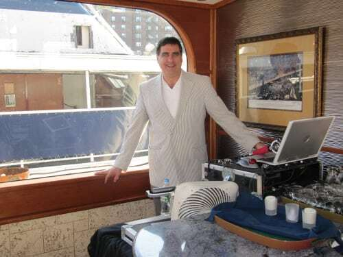 DJ Dave Swirsky on the Lexington Yacht NYC