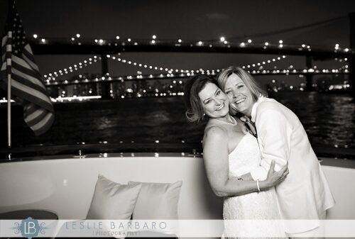 Newly married couple on Lexington Yacht