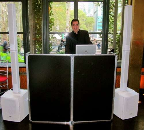 Expressway Music DJ Dave Swirsky set up at Bryant Park Grill