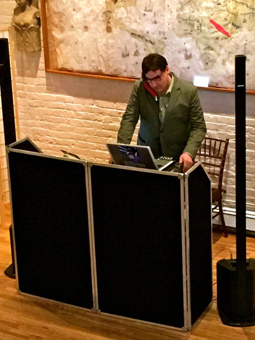 DJ Dave Swirsky at the Alger House