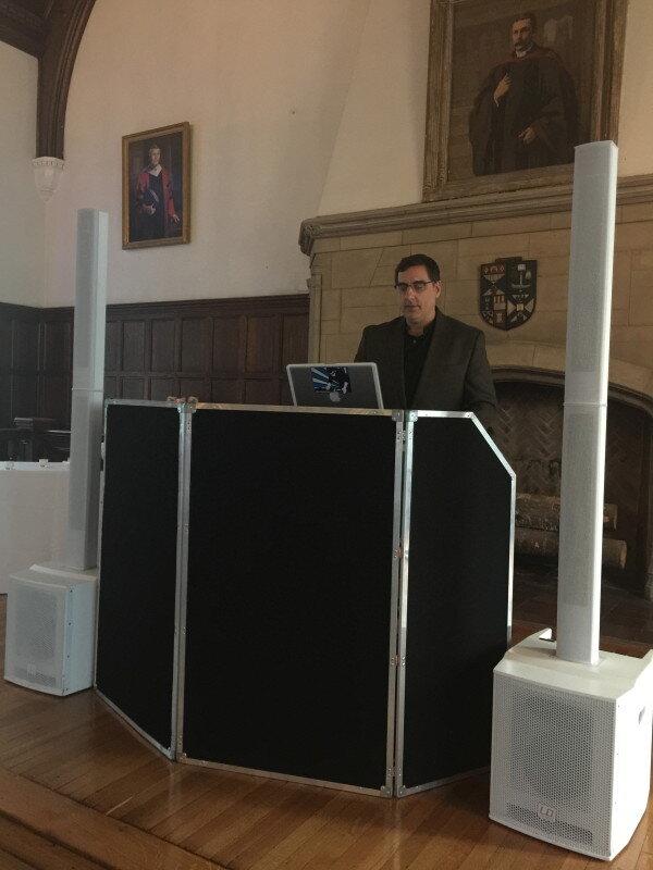 DJ Dave Swirsky and his dj set up