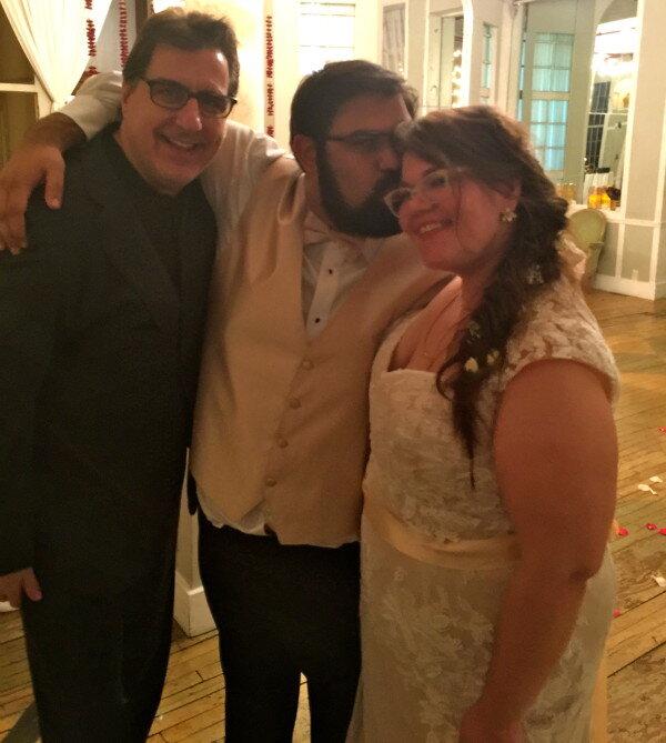 DJ, Groom and Bride