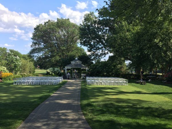 Photo of Outdoor wedding ceremony before guests arrived