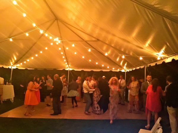 Westchester Wedding Dancing under Tent