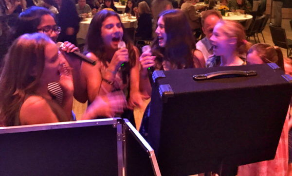 karaoke mitzvah girls singing