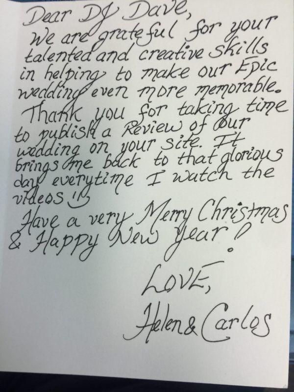 Bride & Groom Letter
