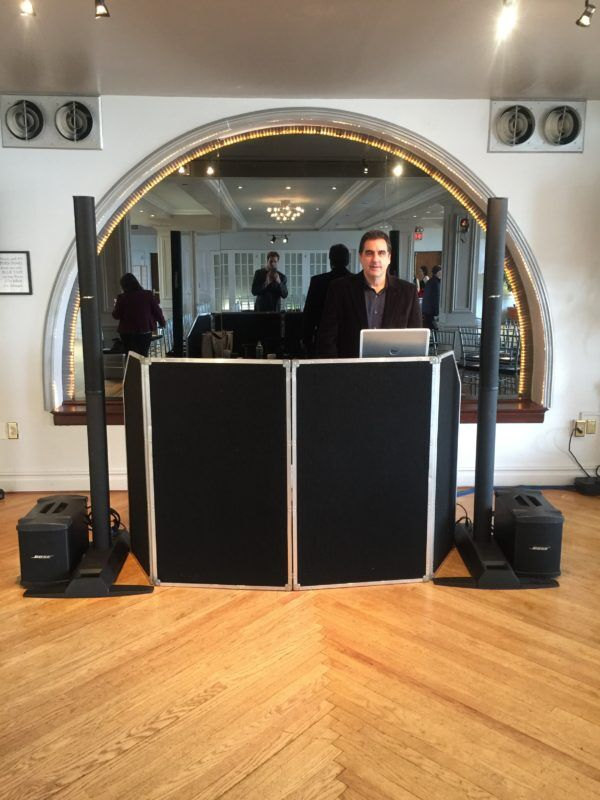 Expressway Music DJ Dave Swirsky and his DJ Set up at Manhattan Penthouse
