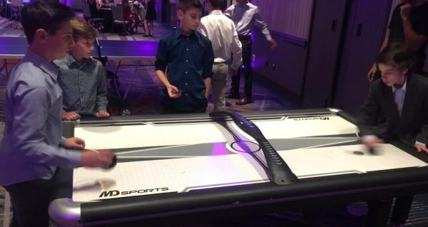 Air Hockey rental at Brooklyn Mitzvah