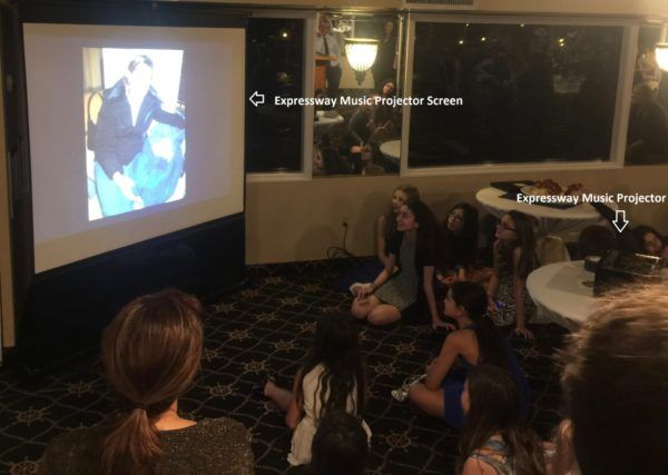 Expressway Music Projectors and Screens are perfect for Mitzvah Montages