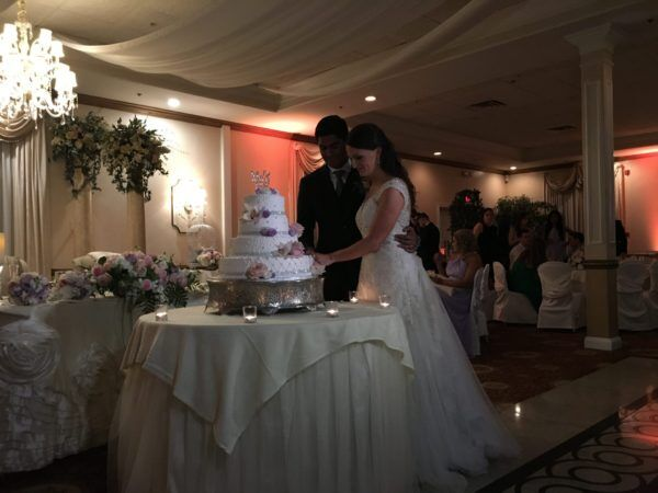 Bride and Groom Cut Cake