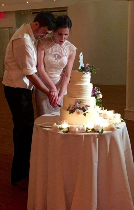 cake cutting at Battery Gardens