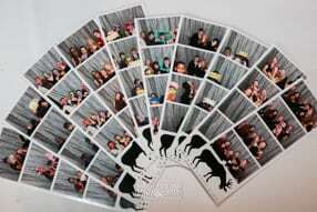 color and black and white photo strips