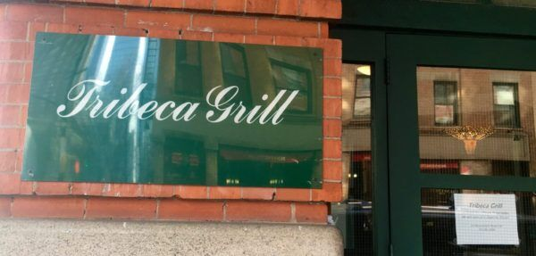 Tribeca grill front sign