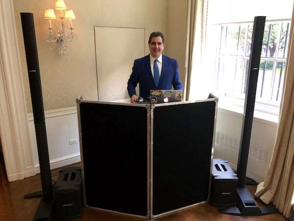 Expressway Music DJ Dave Swirsky set up at Harold Pratt House