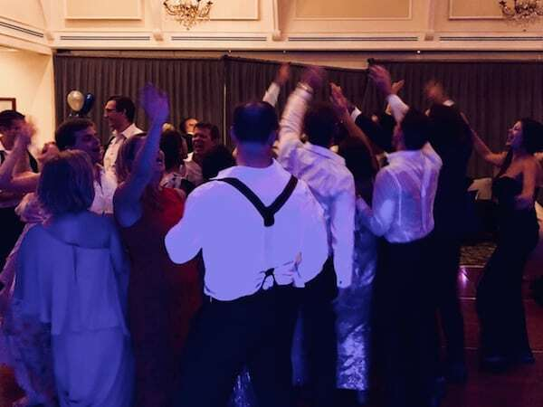 Guests having fun dancing