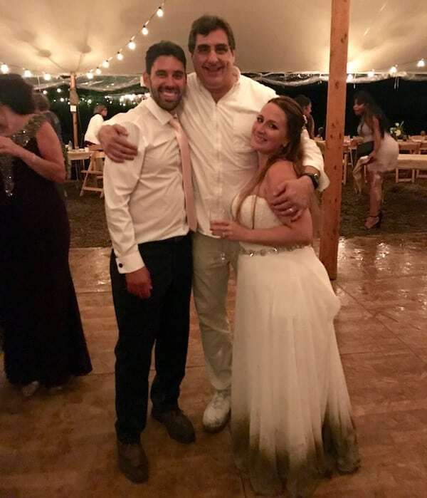 DJ Dave Swirsky with happy Bride and Groom