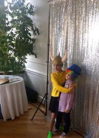 Guests having fun with Mitzvah photo booth